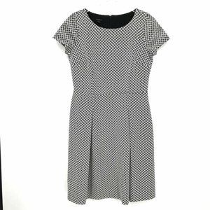 Talbots Womens Black White Geometric Dress Size 8